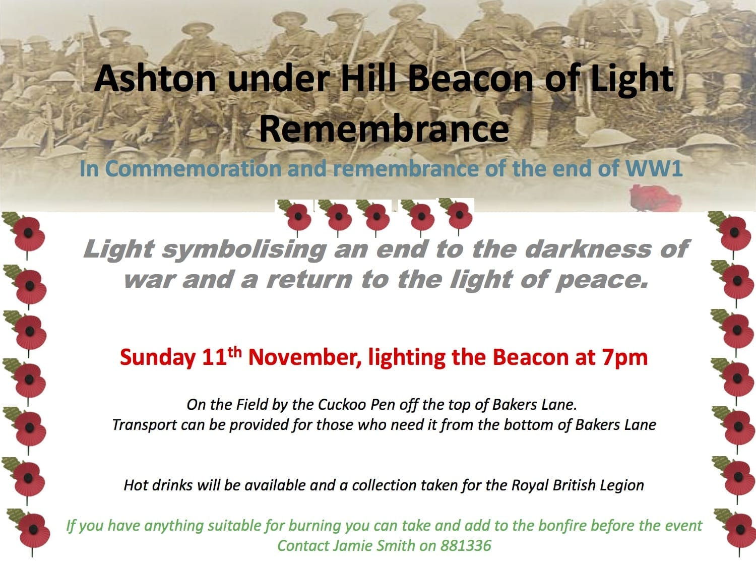 Ashton under Hill Beacon of Light Remembrance