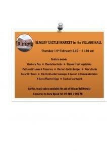 Elmley Castle Market @ Elmley Castle Village Hall