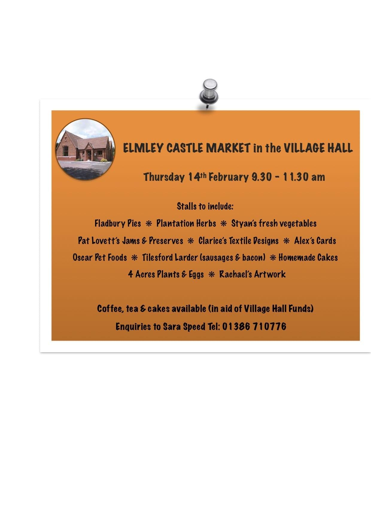Elmley Castle Market Thursday 14th February