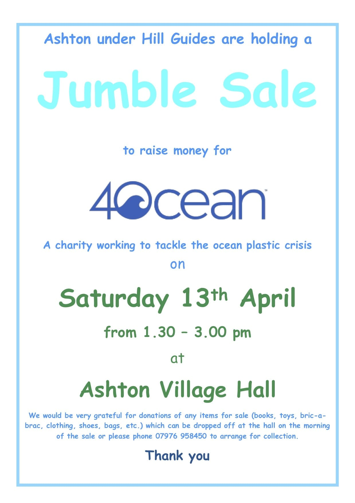 Ashton Guides Jumble Sale