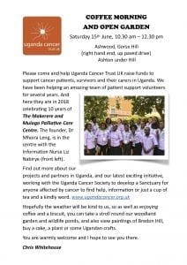 Uganda Cancer Trust Coffee Morning @ Ashwood