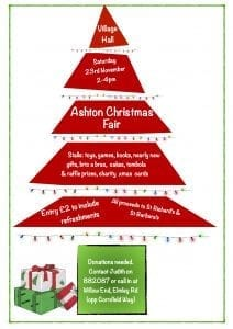 Ashton Christmas Fair 2019 @ Ashton Village Hall