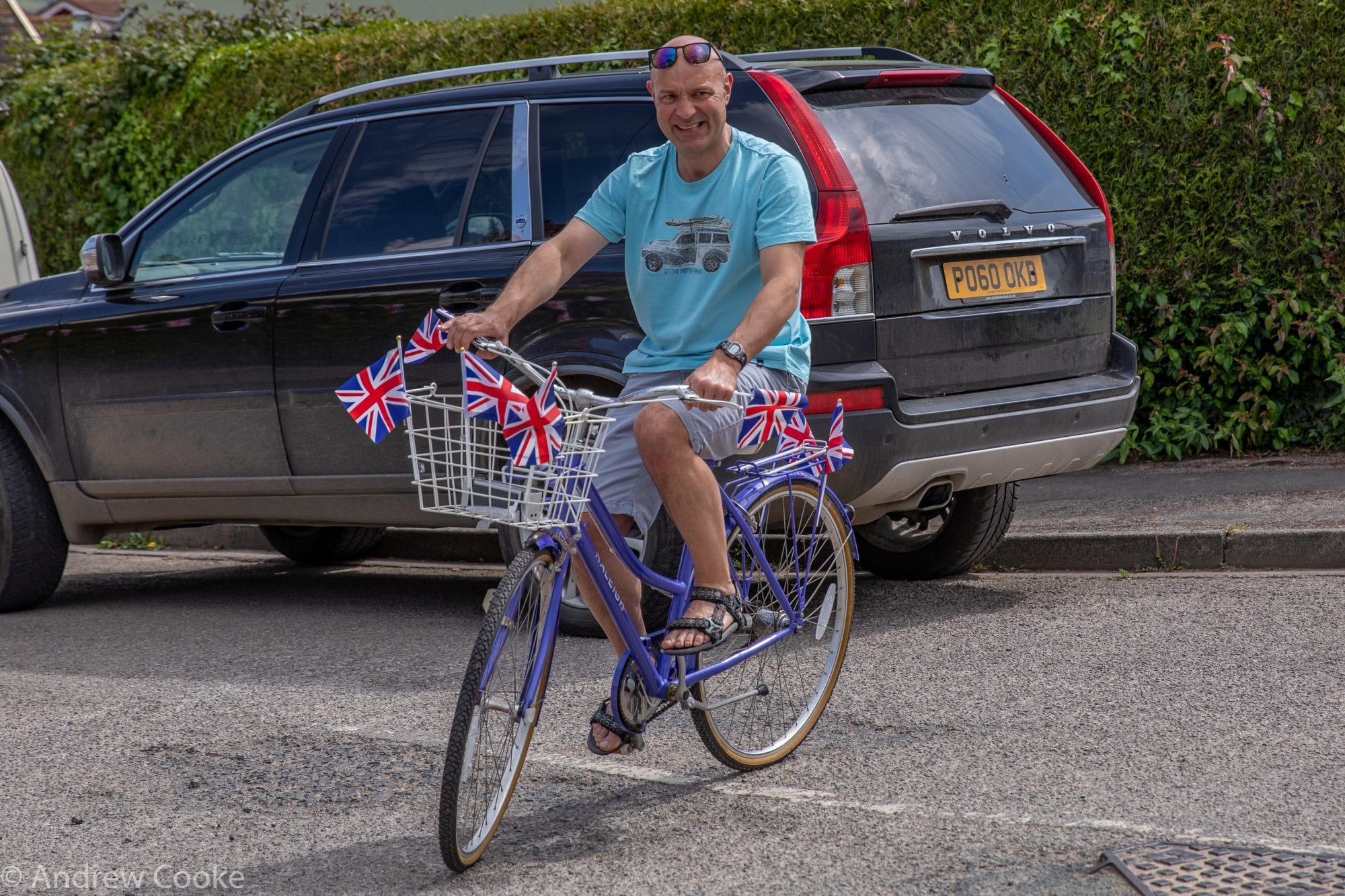 Village VE Day cyclist Rob