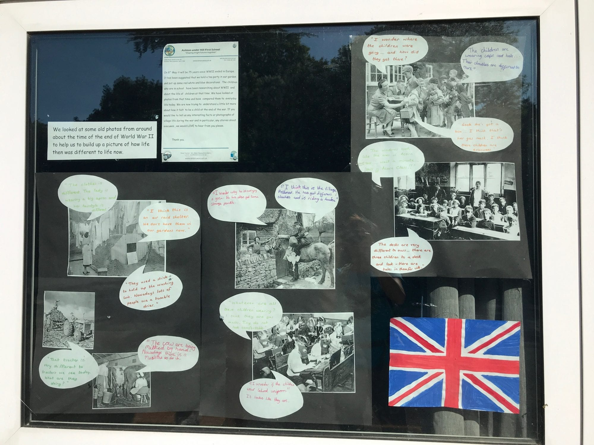 First School VE Day display